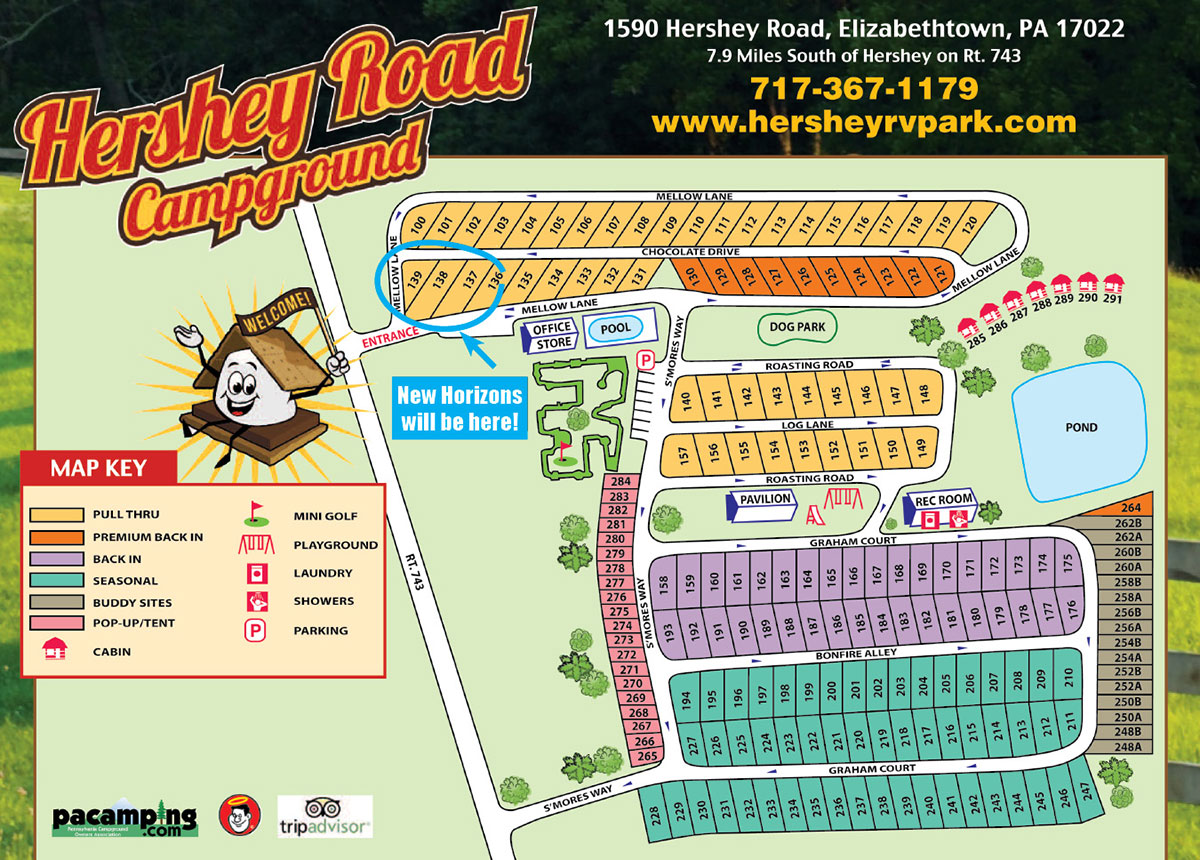 Hershey Road Campground Map