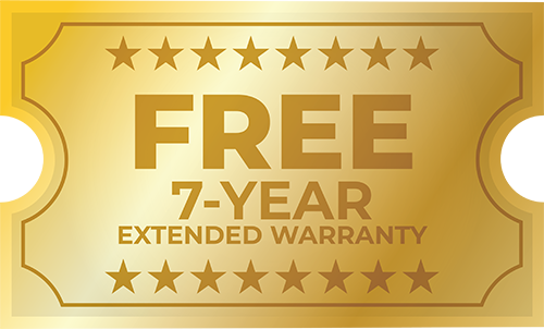 FREE 7-Year Extended Warranty